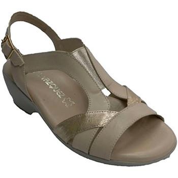 Chaussures Femme Sandales et Nu-pieds Pomares Vazquez Femme sandale avec des bandes élastiques beige