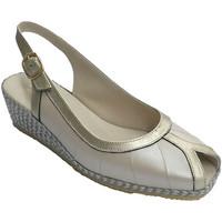 Chaussures Femme Sandales et Nu-pieds Festival Sandale en métal bords combiné doigts de beige