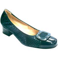 Chaussures Femme Escarpins Roldán cuir verni et nubuck combiné manoletinas azul
