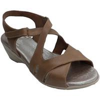 Chaussures Femme Sandales et Nu-pieds Made In Spain 1940 Femme avec traversé sandale sangles Clay marrón