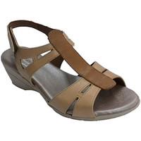 Chaussures Femme Sandales et Nu-pieds Made In Spain 1940 Femme sandale avec bande centrale dans u marrón