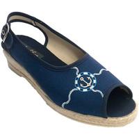 Chaussures Femme Sandales et Nu-pieds Made In Spain 1940 Ouvrir femme pantoufle avec la bande der azul