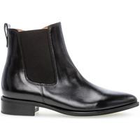 Chaussures Femme Bottines Gabor Bottines cuir lisse talon  talon bloc dessus/effet galvanisé Noir