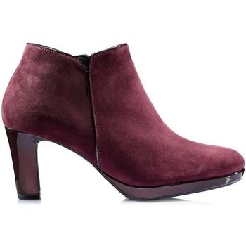 Chaussures Femme Bottines Gabor Bottines merlot en velours Rouge