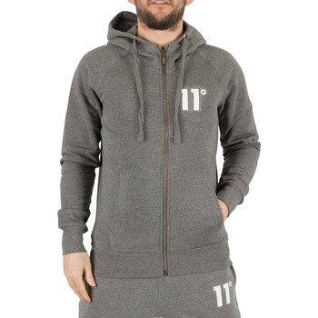 Vêtements Homme Sweats 11 Degrees Homme Sweat à capuche Logo Core Zip, Gris gris
