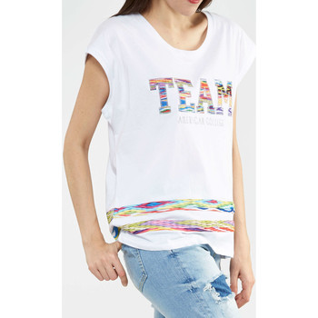Vêtements Homme T-shirts manches courtes American College Tee Shirt Mc Team 58 Ac Stater  Blanc Blanc