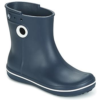 Chaussures Femme Bottes de pluie Crocs JAUNT SHORTY BOOTS Marine