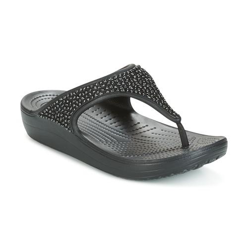 Crocs Sloane Noir - Chaussures Tongs Femme
