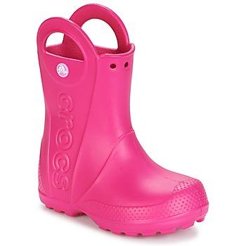 Chaussures Fille Bottes de pluie Crocs HANDLE IT RAIN BOOT Rose