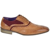 Chaussures Homme Derbies Kebello Chaussures ELO580 Tan/Bx marron