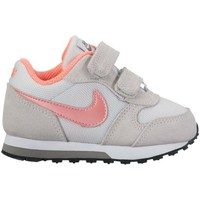 Chaussures Enfant Baskets basses Nike MD Runner 2 TD Rose-Gris-Rouge