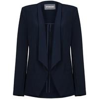 Vêtements Femme Vestes / Blazers Anastasia -Femme Creme Sans doublure Waterfall Veste Black