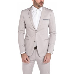 Vêtements Homme Vestes de costume Too Fashion Veste cintrée en satin stretch Gris GR01