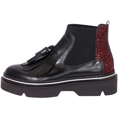 Chaussures Femme Bottines Emporio Di Parma 751 Bootie Femme Noir / bordeaux Noir / bordeaux