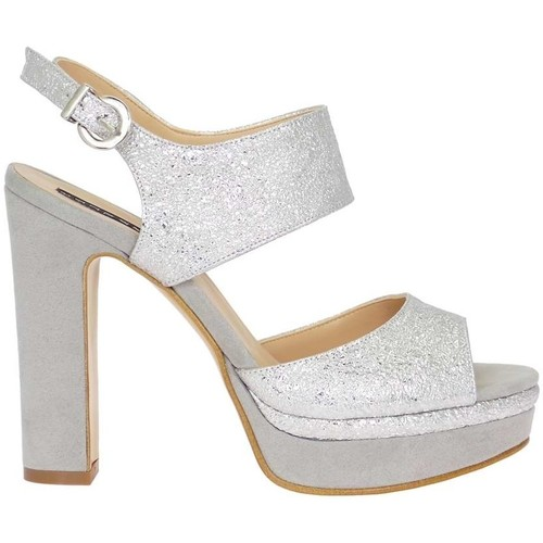 Chaussures Femme Sandales et Nu-pieds Silvana 769 Sandale Femme Argent Argent