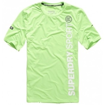 Vêtements Homme T-shirts & Polos Superdry T-shirt  Sports Athletic S/s Fluo Lime Vert
