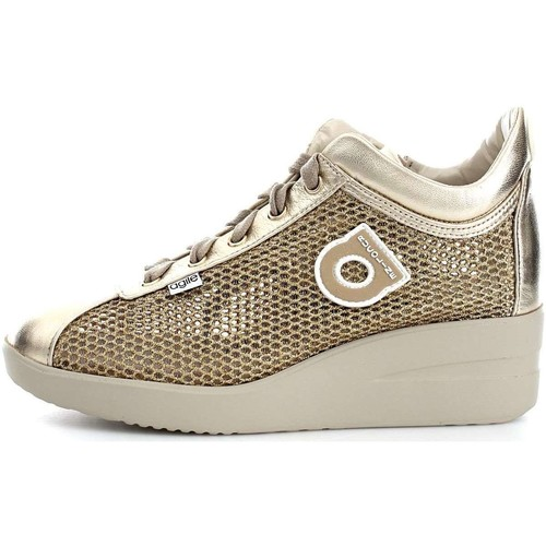 Agile By Ruco Line 0226-82983 Basket Femme Gold Gold - Chaussures Baskets basses Femme