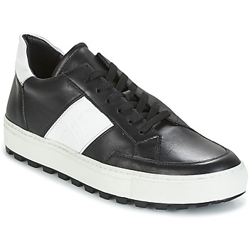 Chaussures Homme Baskets basses Bikkembergs TRACK-ER 966 LEATHER Noir / Blanc