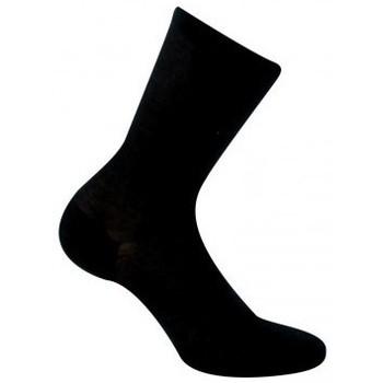 Accessoires Femme Chaussettes Kindy Socquettes unies ultra fines pour femme Noir