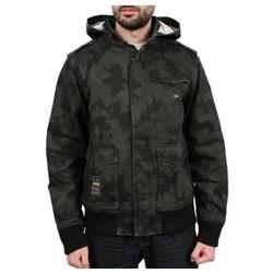Vêtements Homme Vestes Lrg Blouson - Bushman zip hoody - Black / Kaki Noir
