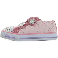 Chaussures Fille Baskets mode Skechers S Light Shuffles Frill Seeker rose