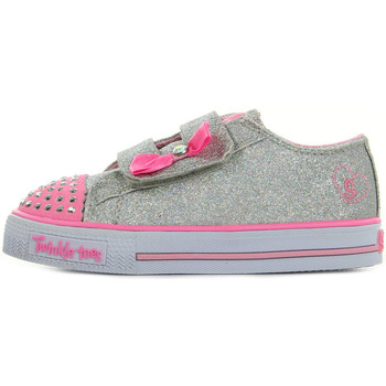 Chaussures Fille Baskets mode Skechers S Lights Glitzy Games argent