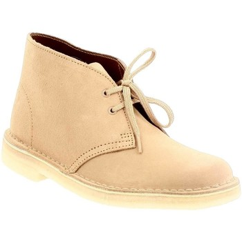 Chaussures Femme Bottines Clarks desert boot f fudge
