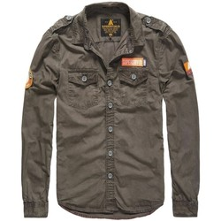 Vêtements Homme Chemises Superdry Chemise  Ultra Light Army Corps Charcoal Anthracite
