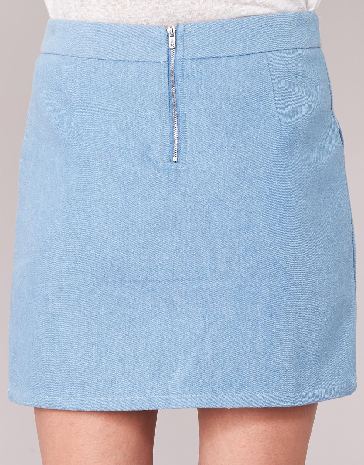 Yurban Bleu - Livraison Gratuite Vêtements Jupes Femme 25,50 €