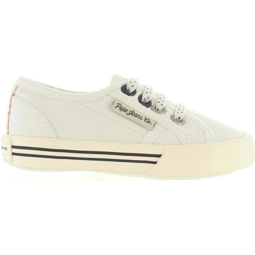 Chaussures Enfant Baskets mode Pepe jeans PGS30198 BAKER Blanco