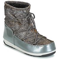 Chaussures Femme Bottes de neige Moon Boot MOON BOOT WE LOW LUREX Gris / Argent