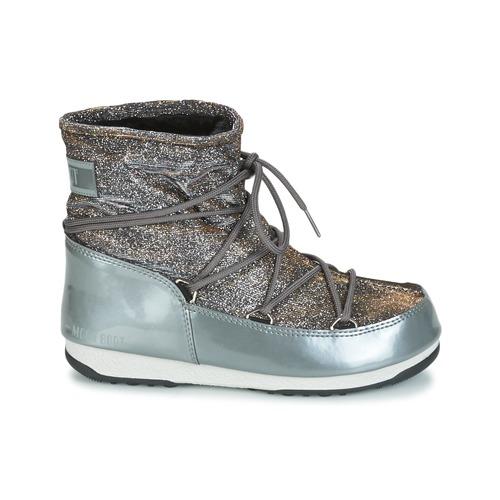 GrisArgent Neige Lurex Moon Bottes Boot Low Chaussures Femme De rdxoeCBWQE