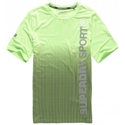 Vêtements Homme T-shirts & Polos Superdry T-shirt  Sports Athletic Dissolve Lime Vert