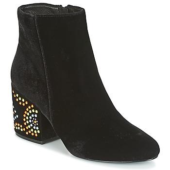 Chaussures Femme Bottines Café Noir GIROU Noir