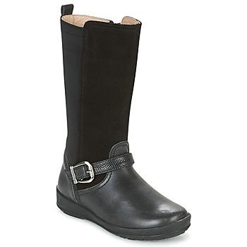 Chaussures Fille Bottes ville Garvalin NEW FLORES Noir