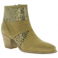 Chaussures Femme Boots Minka Boots cuir velours Beige