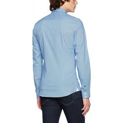 Vêtements Homme Chemises manches longues Guess Chemise Imprimé Bleu 19