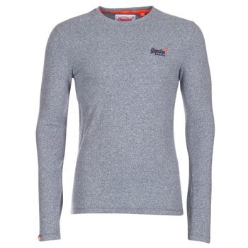 Vêtements Homme T-shirts manches longues Superdry ORANGE LABEL VINTAGE Gris