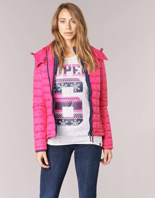 FUJI BOX QUILTED  Superdry  doudounes  femme  rose