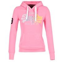 Vêtements Femme Sweats Superdry VINTAGE LOGO STRIPE FADED Rose