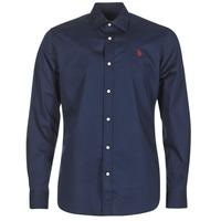 Vêtements Homme Chemises manches longues U.S Polo Assn. ZED Marine