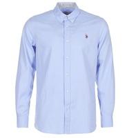 Vêtements Homme Chemises manches longues U.S Polo Assn. CALE Bleu
