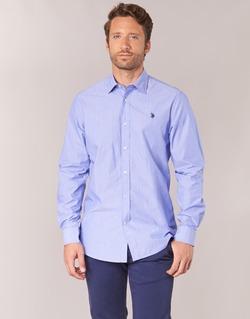 Vêtements Homme Chemises manches longues U.S Polo Assn. RUSTY Marine