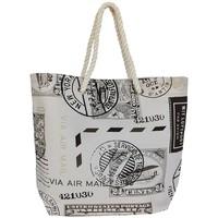 Sacs Femme Cabas / Sacs shopping Mora Mora Sac Caligrafa Timbre Beige