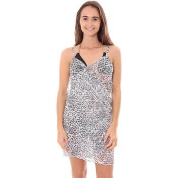 Vêtements Femme Paréos Mora Mora Robe Pareo de plage Leopard  Blanc Blanc