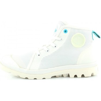 Chaussures Homme Baskets montantes Palladium Pampa Hi Lite Am Blanc