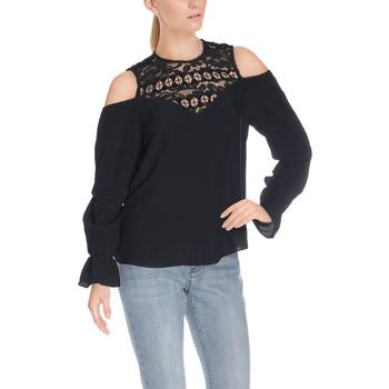 Vêtements Femme Tuniques Guess Blouse Epaules Nues Noir 38