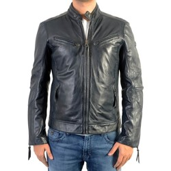 Vêtements Homme Vestes Redskins Veste En Cuir  Lynch Casting Navy Blue Bleu