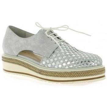 Chaussures Femme Derbies Altraofficina Derby cuir laminé Argent