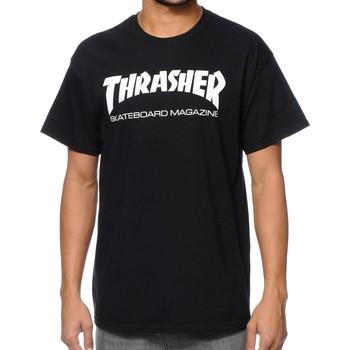 Vêtements Homme T-shirts manches courtes Thrasher CAMISETA  SKATE MAG NEGRO HOMBRE Noir